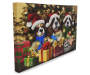 Light Up Singing Christmas Dogs Musical Canvas 18 Inches by 12 Inches Thickness Shot Silo Image