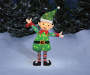 Light Up Tinsel Elf 38 Inches Outdoor Environment Lifestyle Image