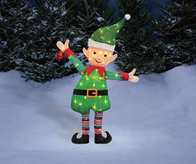Winter Wonder Lane Light Up Tinsel Elf 38 Quot Big Lots