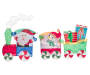 Light Up Tinsel Train 3 Piece Set Silo Image