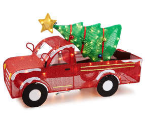 Winter Wonder Lane Light Up Tinsel Truck 33 Quot Big Lots