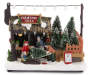 Light Up Tree Farm Scene Decor Lights Off Silo Image