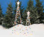 Light Up Twinkle String Trees 2 Piece Set in Snow Lifestyle Image