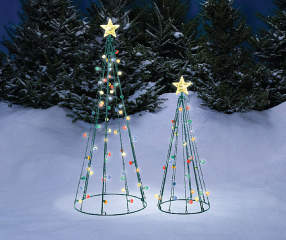 Winter Wonder Lane Light-Up Twinkle String Trees, 2-Piece ...