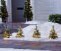 Light-Up Cashmere Pathway Trees, 4-Pack