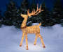 Light-Up Champagne Buck 5FT Outdoors In Snow Image