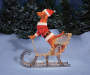 "Light-Up Dog on Sleigh, (42"")"