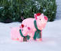 Light-Up Holiday Pigs, 2-Piece Set