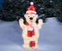Light-Up Ice Polar Bear Décor Outdoor Image