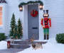 Light-Up Nutcracker 5FT Outdoors on Front Porch Image