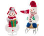 Light-Up Pop-Up Snowmen 2-Piece Set Silo