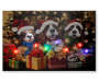 "Light-Up Singing Christmas Dogs Musical Canvas, (18"" x 12"")"
