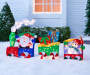 Light-Up Tinsel Train, 3-Pieces Set, (6')
