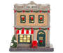 Lighted Holiday Village Post Office Front View Silo Image