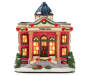 Lighted Holiday Village Town Hall Front View Silo Image