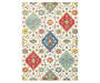 Lillian Ivory Area Rug 3 Feet 10 Inches by 5 Feet 5 Inches Overhead View Silo Image