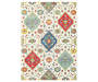 Lillian Ivory Area Rug 7 Feet 10 Inches by 10 Feet 10 Inches Overhead View Silo Image