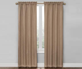 Living Colors Linen Ivory Bergen Blackout Curtain Panel Pair, (84 ...