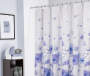 Liv Floral Microfiber Shower Curtain 72in bathroom setting