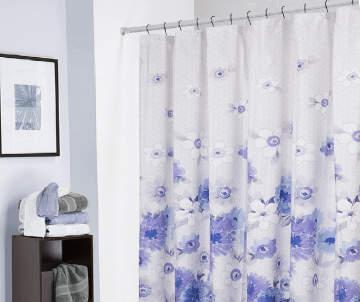 800 Living Colors Liv Floral Microfiber Shower Curtain