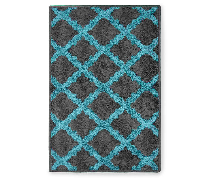 Living Colors Quatrefoil Blue Accent Rugs Big Lots