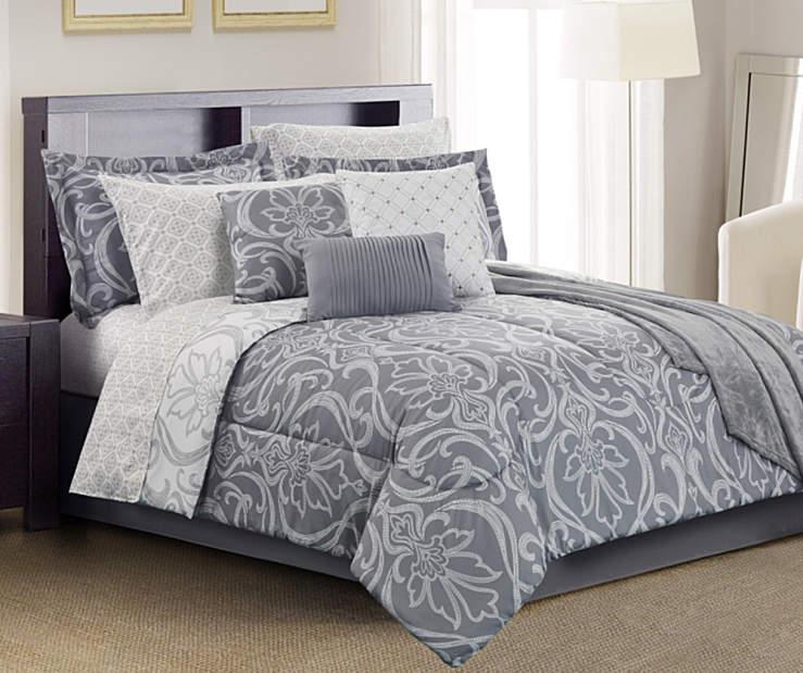 Living Colors Amelia Gray 12 Piece Comforter Sets Big Lots