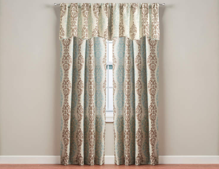 Curtains Ideas brown valance curtains : Living Colors Calais Brown Curtain Panels and Valances | Big Lots