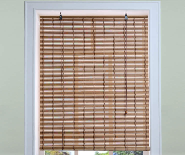 Living Colors Light Bamboo Roll Up Blinds Big Lots
