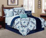 Living Colors Medallion 12-Piece Queen Comforter Set On Bed Room Environment Lifestyle Image
