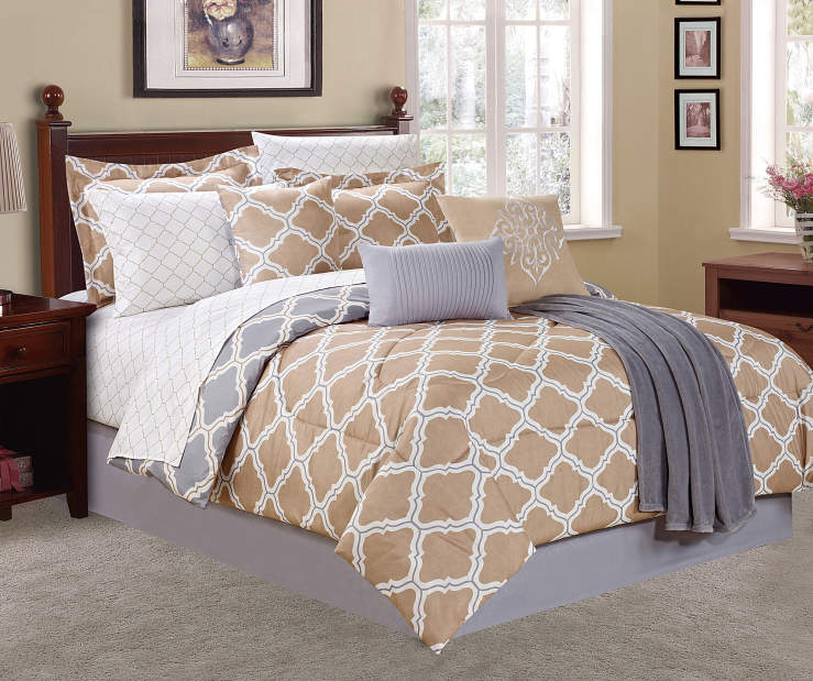 Living Colors Moroccan Tile 12 Piece Comforter Sets Big Lots