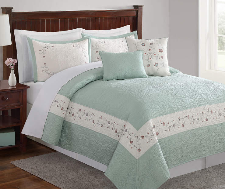 Bedroom Sets At Big Lots One Direction Bedrooms For Girls Hello Kitty Bedroom Ideas Bedroom Furniture Design 2016 In Pakistan: Living Colors Pandora Sage 5-Piece Quilt Sets
