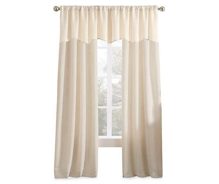 Wonderful ivory valance for your home design 2018 for Household design 135 curtain road