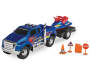 Loaded Ridez Blue Ford F 650 Super Duty Truck and Watercraft Out of Package with Accessories Silo Image