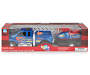 Loaded Ridez Blue Ford F 650 Super Duty Truck and Watercraft in Package Silo Image