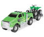 Loaded Ridez Green Ford F 650 Super Duty Truck and ATV Out of Package Silo Image