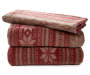 Lodge Red and Brown Twin 3 Piece Fleece Sheet Set silo front