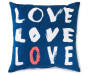 Love Love Love velvet Plush Throw Pillow Silo Image