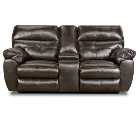 Simmons Lucky Espresso Reclining Console Loveseat Big Lots