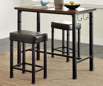 Industrial Dining Set With Black Chairs Big Lots