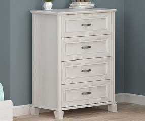 Ameriwood Magnolia Oak White 4 Drawer Chest Big Lots