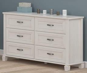 Ameriwood Magnolia Oak White 6 Drawer Dresser Big Lots
