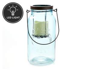 autumn radiance teal led mason jar big lots. Black Bedroom Furniture Sets. Home Design Ideas
