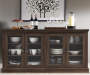 MED OAK 70IN TV CONSOLE lifestyle