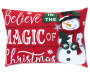 Magic of Christmas Throw Pillow Front Silo