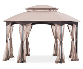 wilson fisher manhattan oval gazebo 10 39 x 12 39 big lots. Black Bedroom Furniture Sets. Home Design Ideas