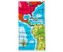 Map Beach Towel 34 Inches by 64 Inches Overhead View Silo Image