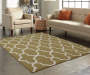 Maples Collection Beige Tile Area Rug, (5' x 7')