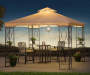 Masley Easy Up Gazebo 9 point 8 ft x 9 point 8ft lifestyle