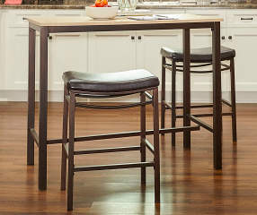Max Brown Amp Blonde 3 Piece Pub Table Set Big Lots