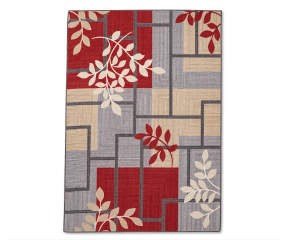 Living Colors Maxine Red Amp Gray Geometric Vine Area Rug